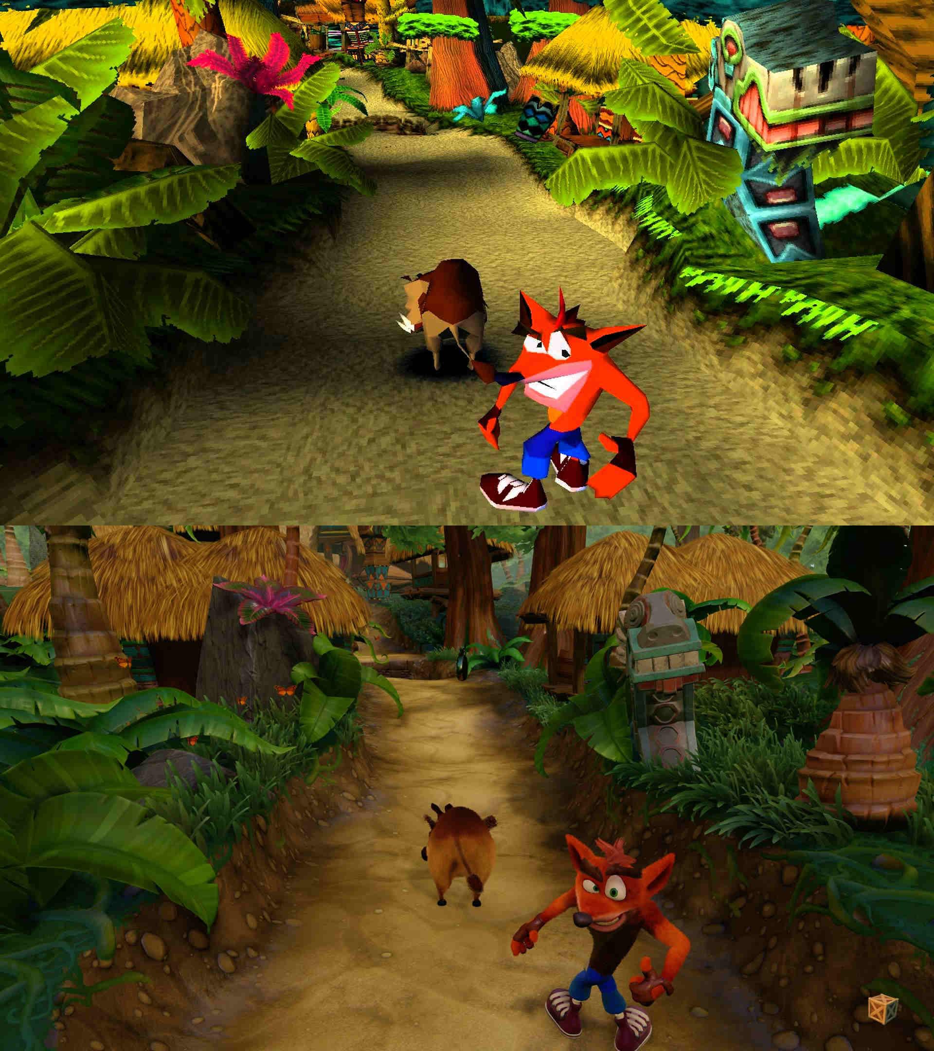 Crash Bandicoot - Original vs. N. Sane Trilogy