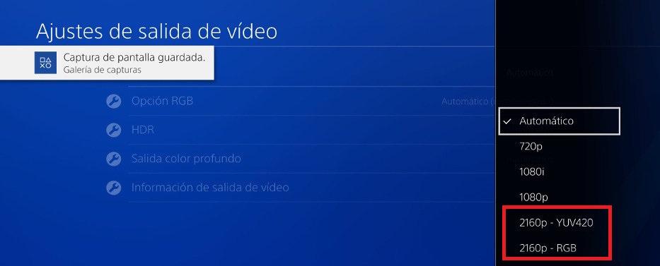 PS4 Pro 2160p