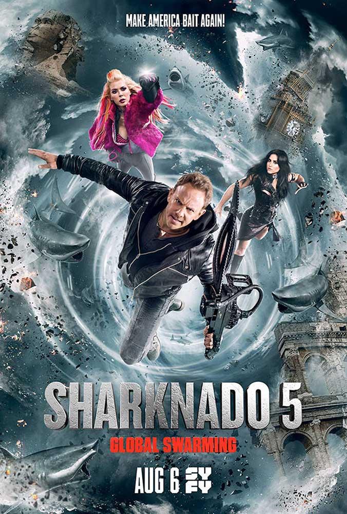 Image result for sharknado 5 global swarming
