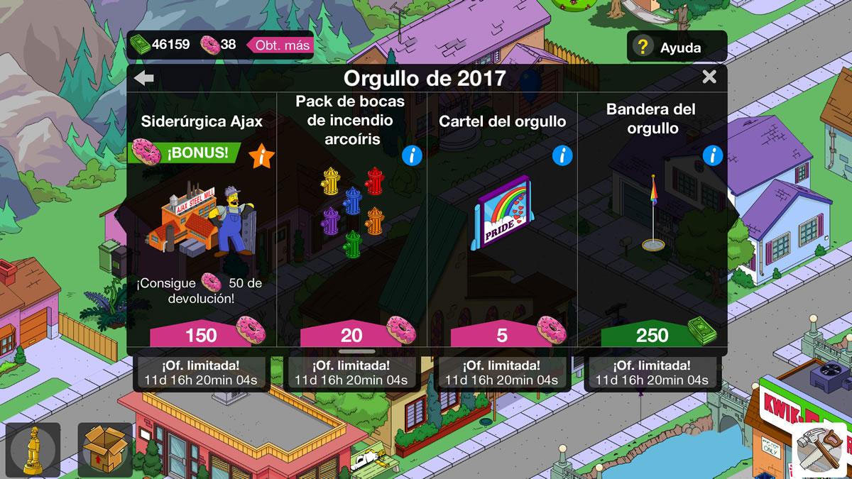 Actualización Orgullo 2017 Los Simpson Springfield