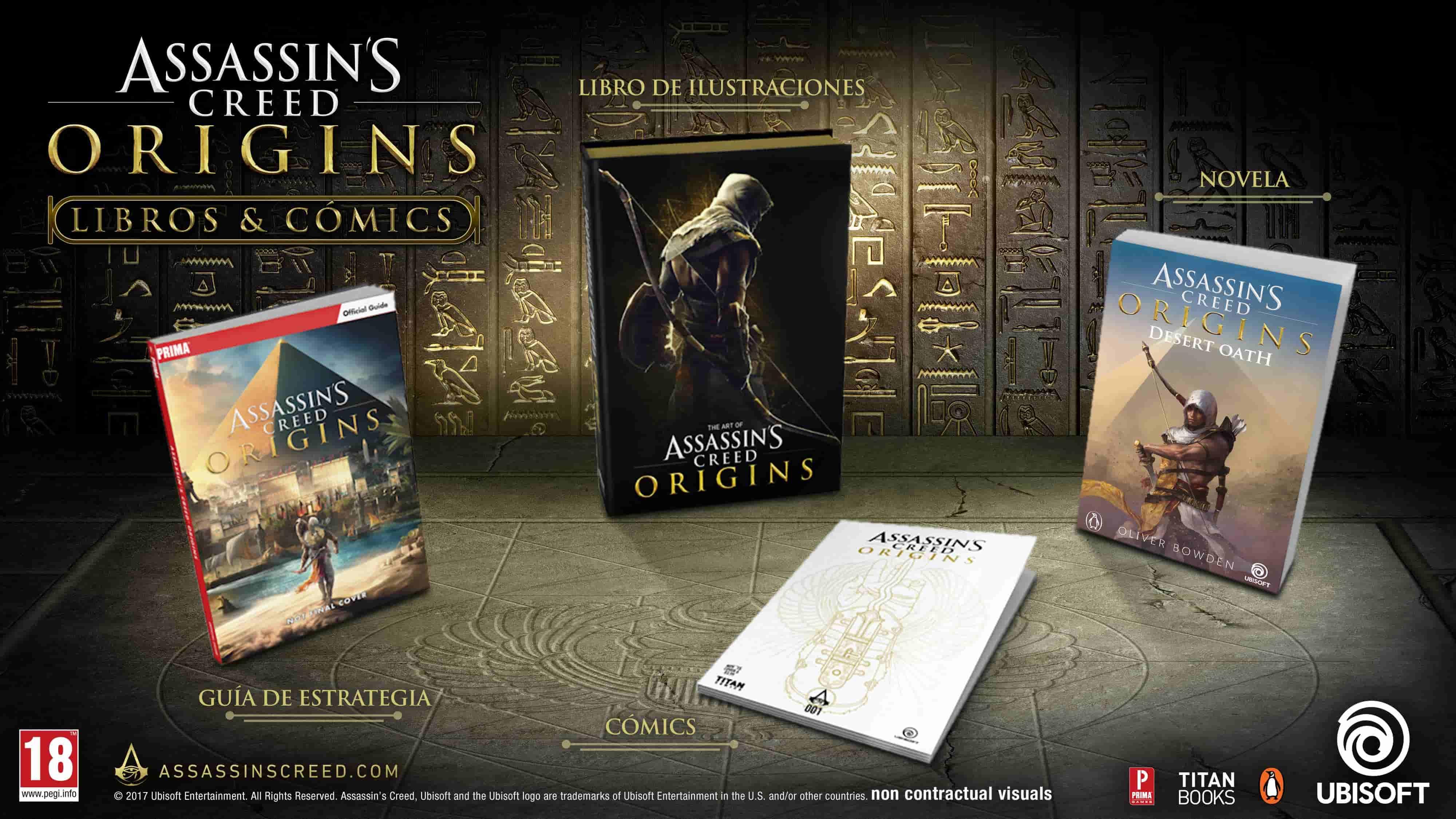 Assassin's Creed Origins ampliará su universo con una novela y una miniserie de cómics