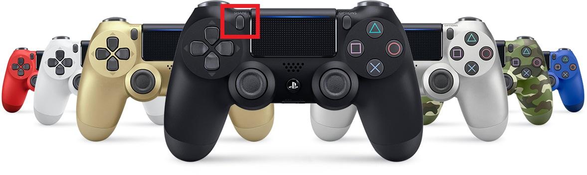 Botón Share DualShock 4