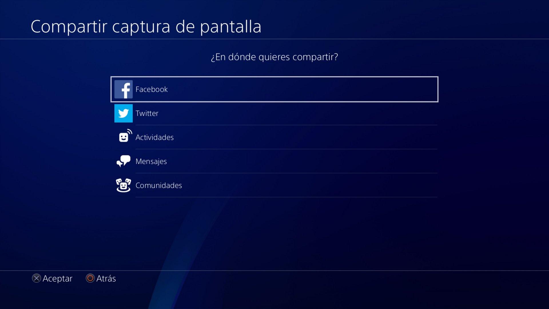 Compartir pantalla en PS4