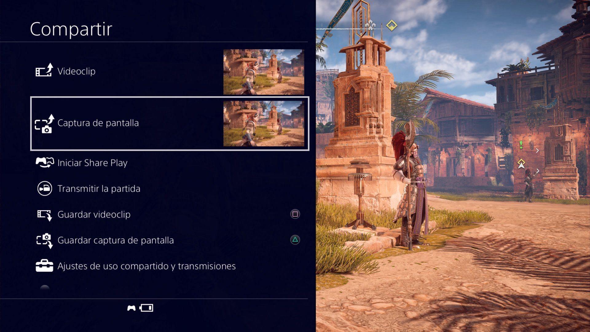 Compartir contenido en PS4