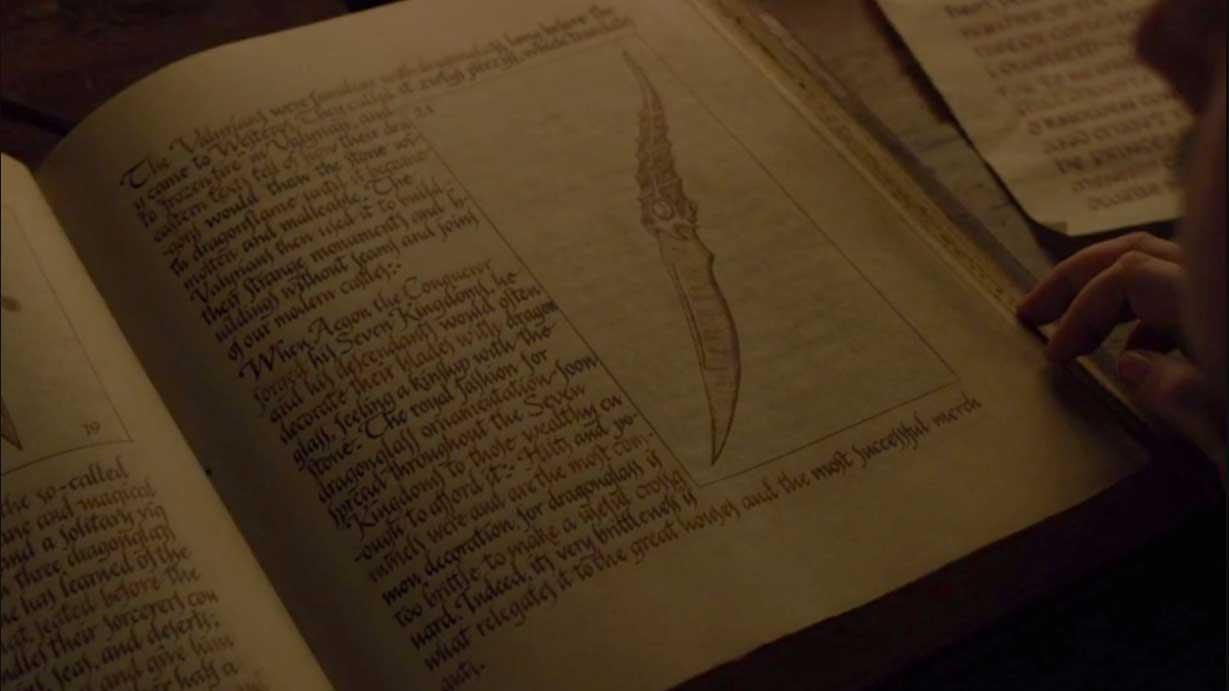 La daga de acero valyrio en Juego de Tronos