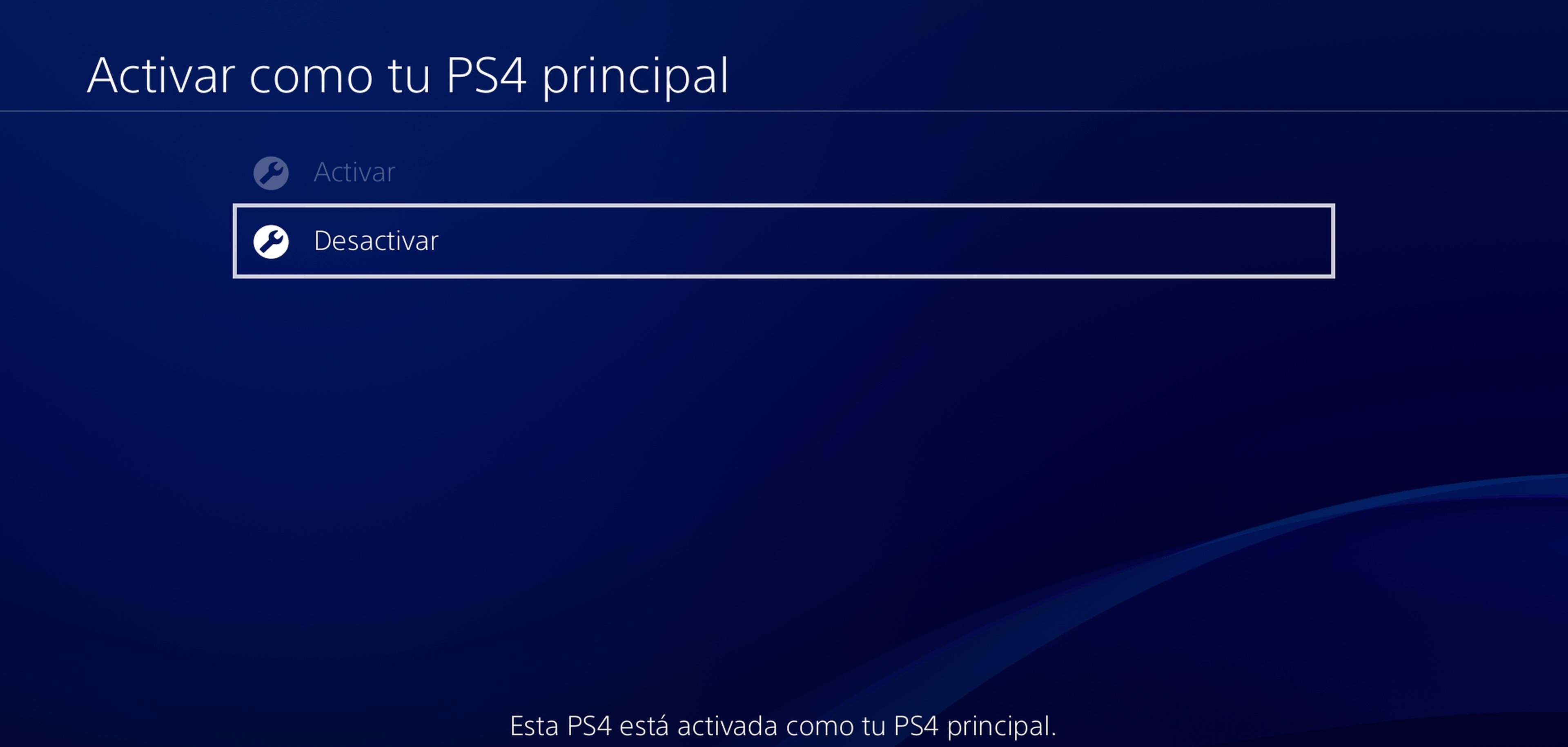 Desvincular PSN de PS4