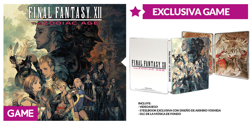Final Fantasy XII The Zodiac Age Edición Exclusiva de GAME
