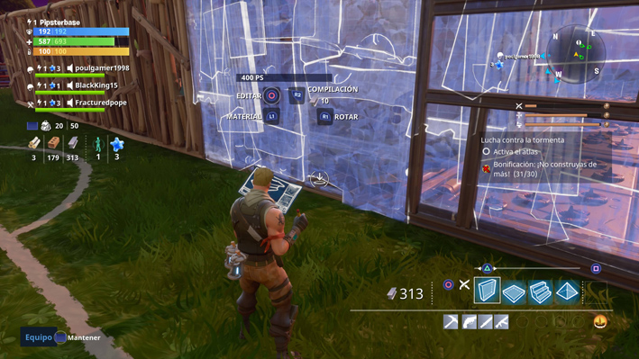 how to change materials in fortnite pc