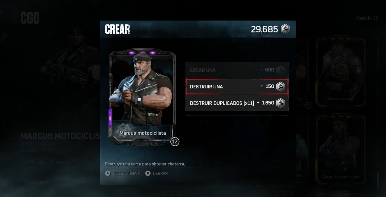 Gears of War 4 - Destruir duplicados