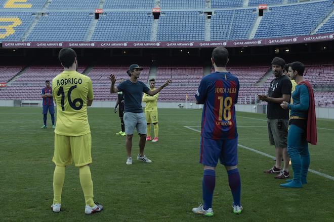 Imágenes de Superlópez en el Camp Nou