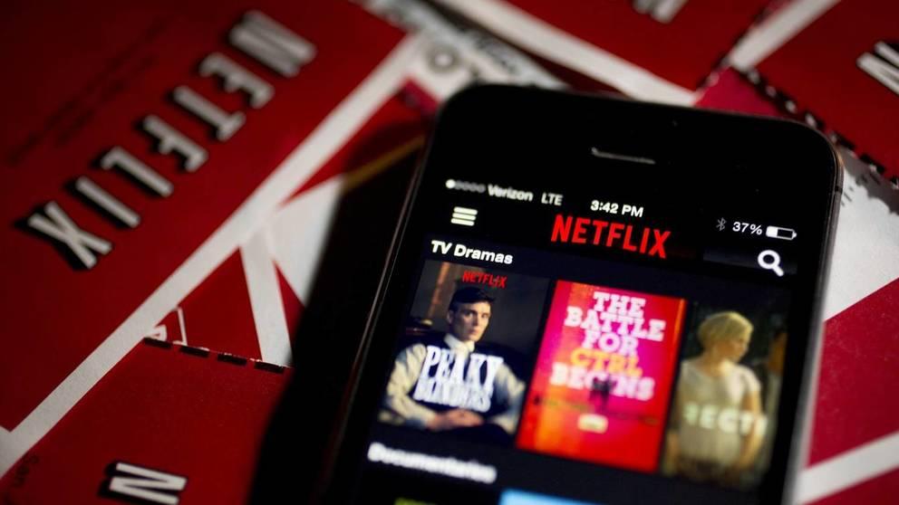 Aplicación de Netflix vista desde un móvil