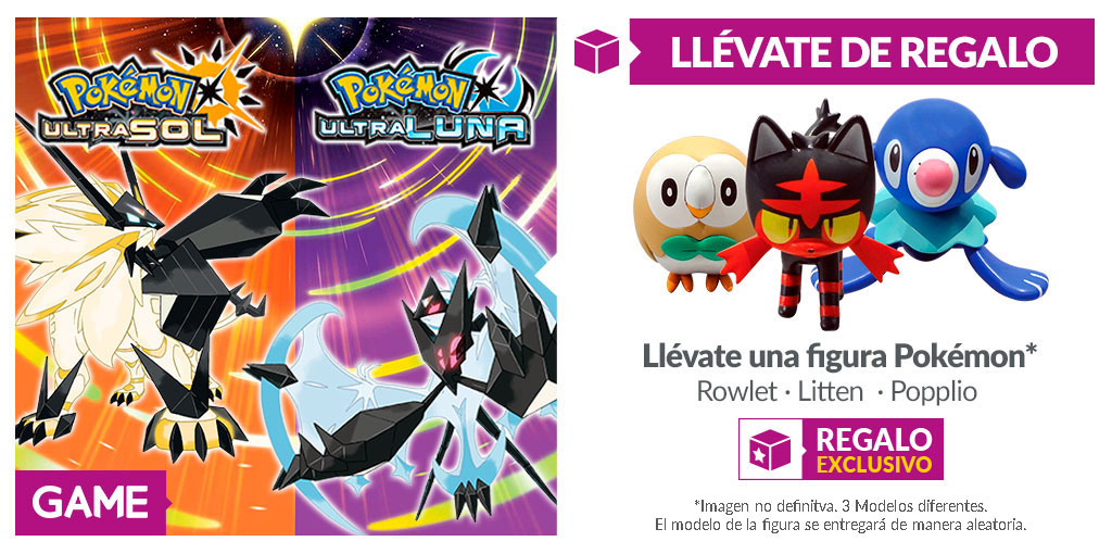 Pokémon UltraSol y Pokémon UltraLuna GAME