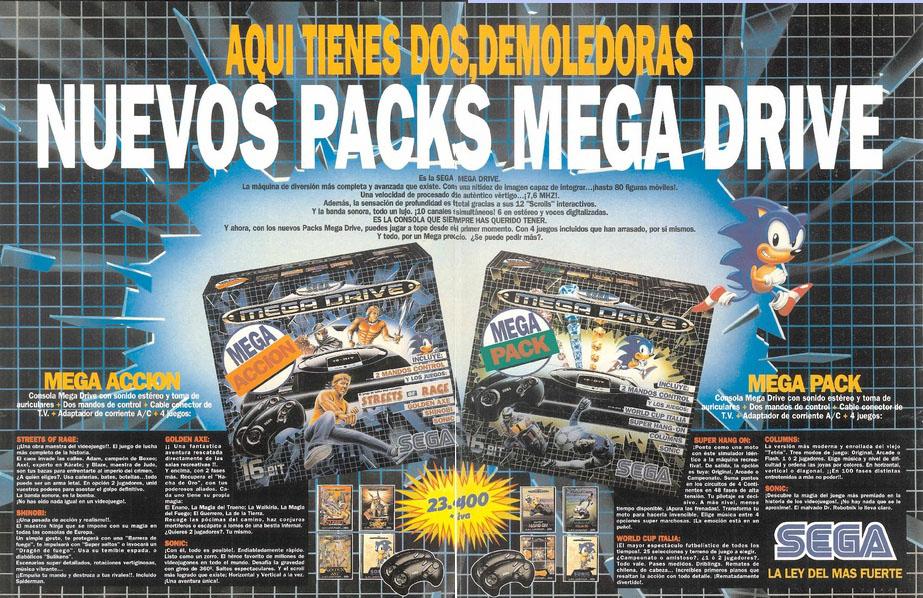 Publicidad de Mega Drive - Mega Pack