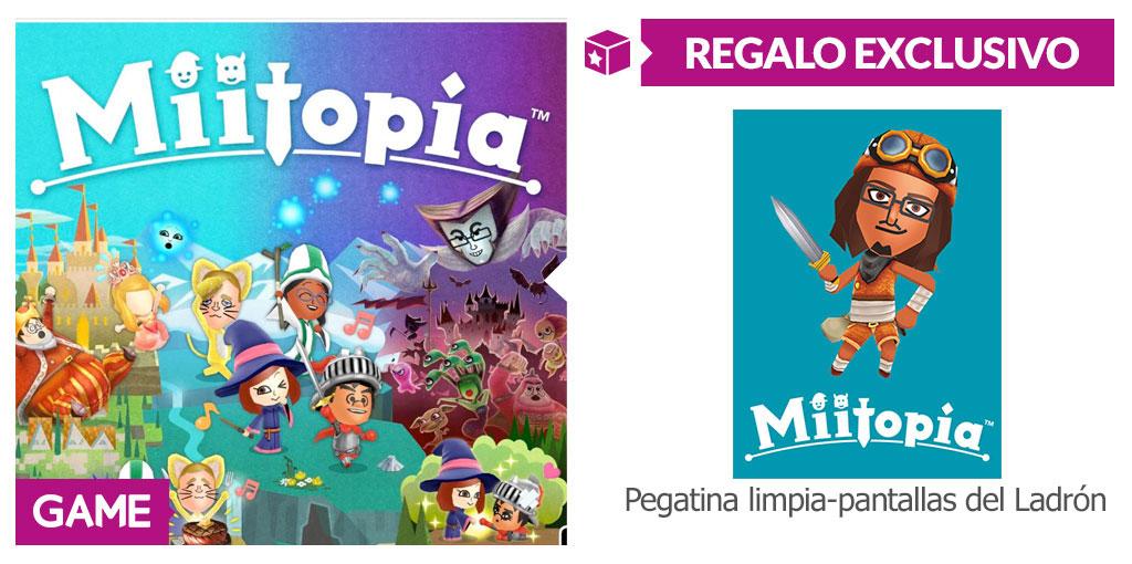 Regalo de reserva de Miitopia en GAME
