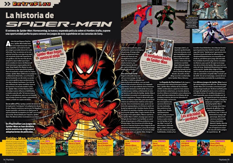 Todos los juegos de Spider-Man en PlayStation