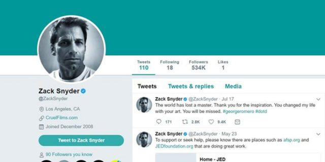 Zack Snyder Twitter
