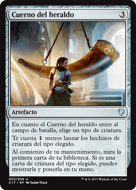 Cuerno del Heraldo- Magic The gathering Commander 2017