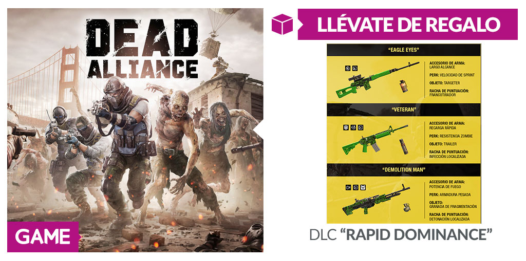 Dead Alliance - Regalo de reserva en GAME