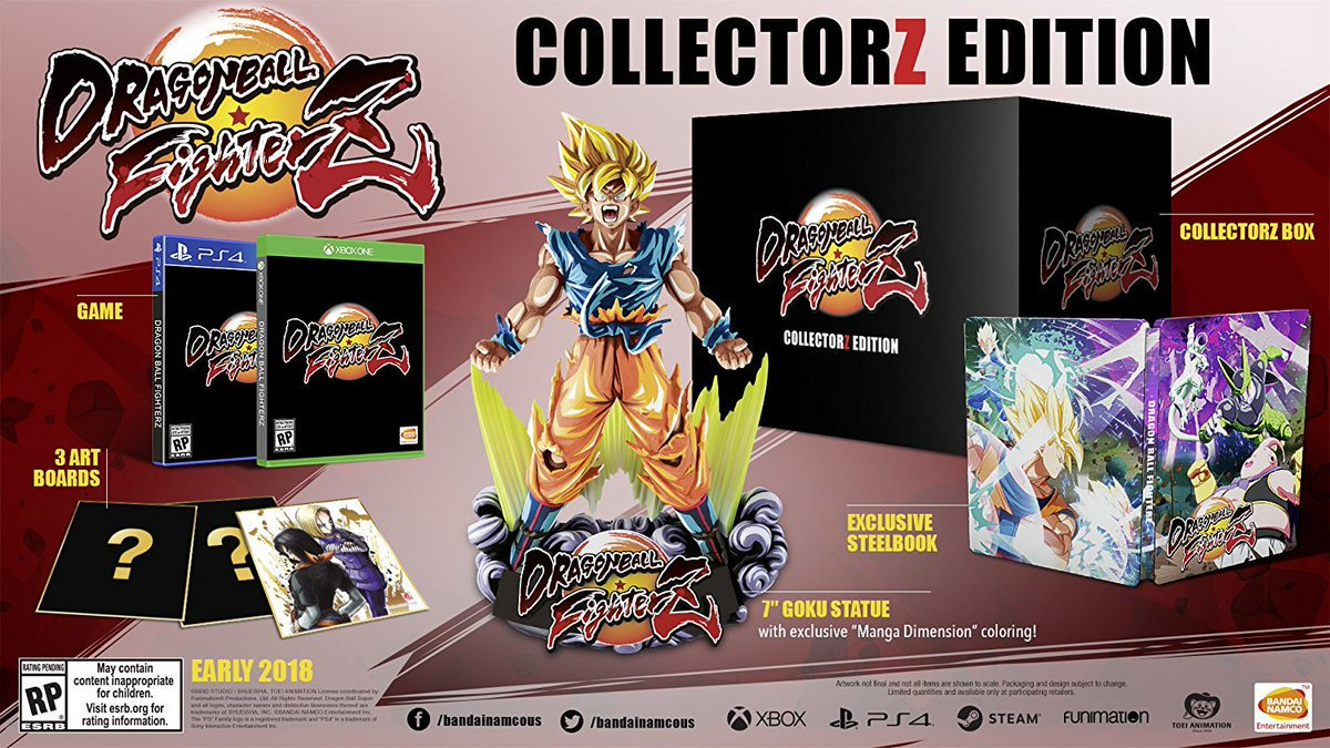 edición para coleccionistas dragon ball fighterZ