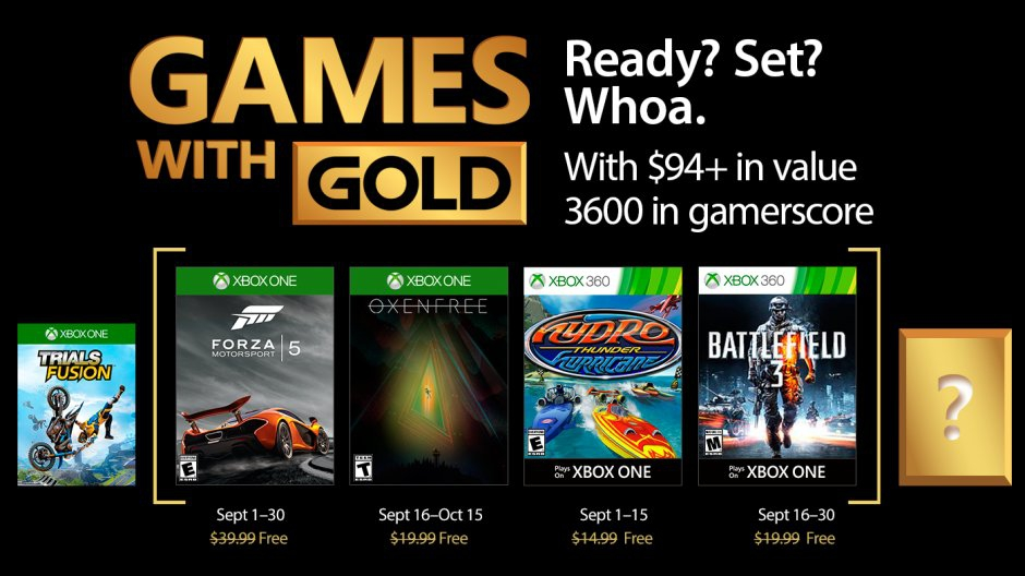 Games with Gold de septiembre 2017