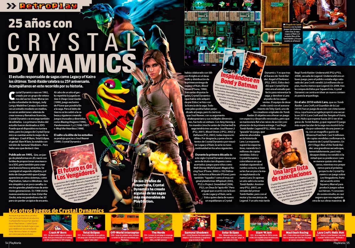 La historia Crystal Dynamics en Playmania 226