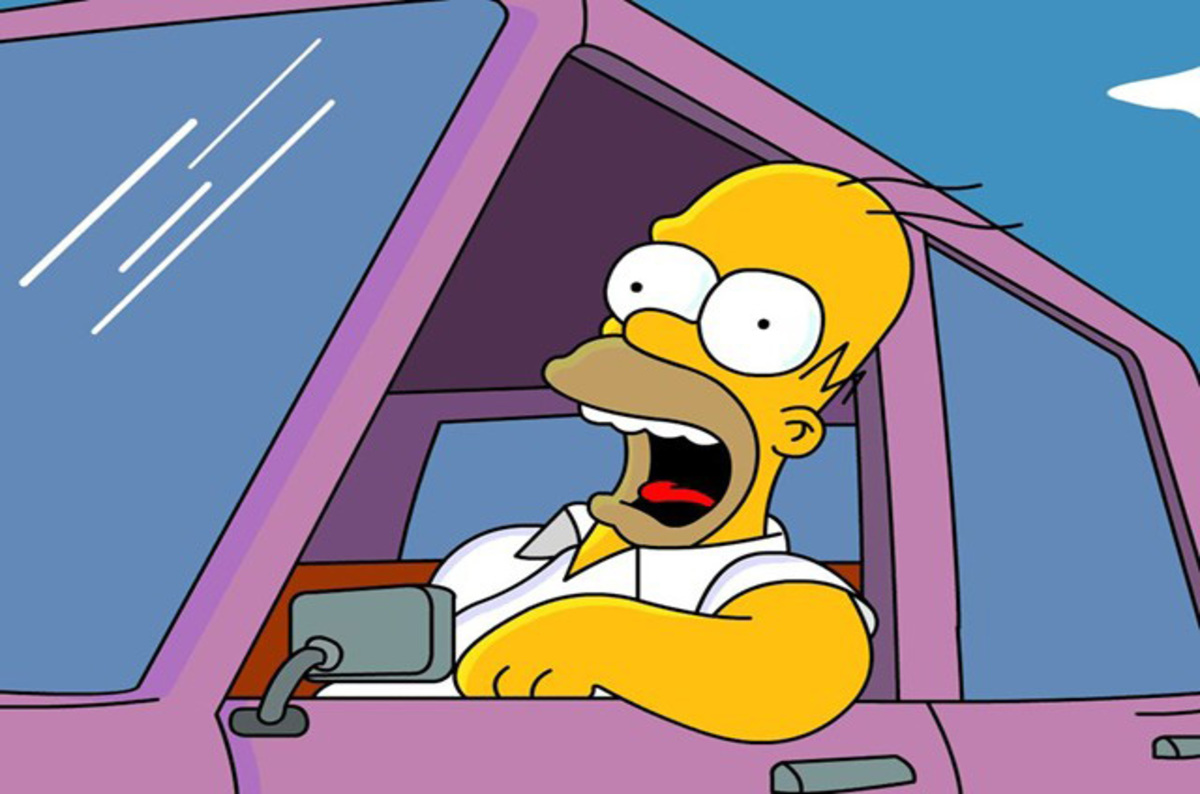 Homer driving
