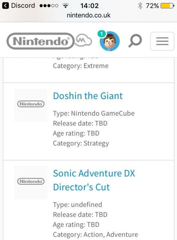 Juegos de GameCube para Nintendo Switch