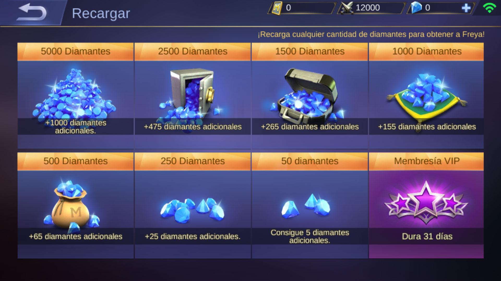 Mobile Legends Diamantes