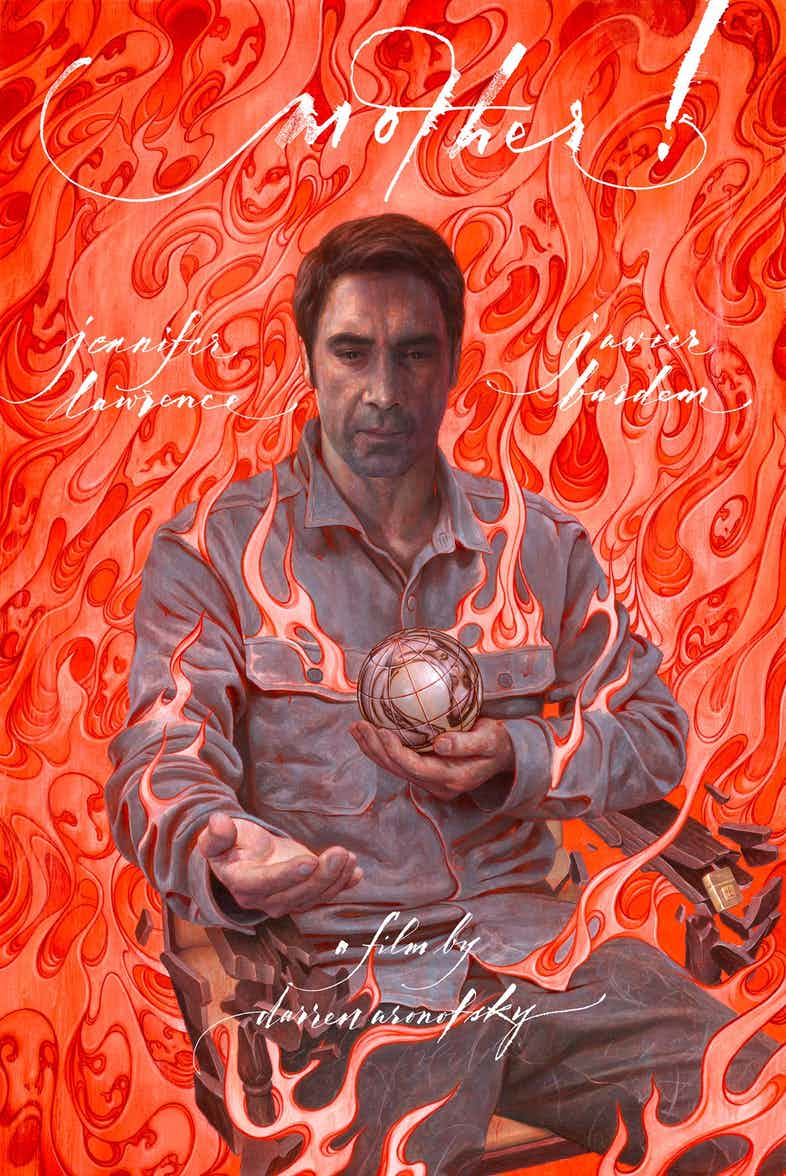 Mother! póster Javier Bardem