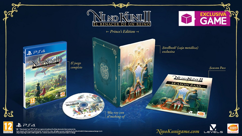 Ni no Kuni 2 Revenant Kingdom Prince's Edition exclusiva de GAME