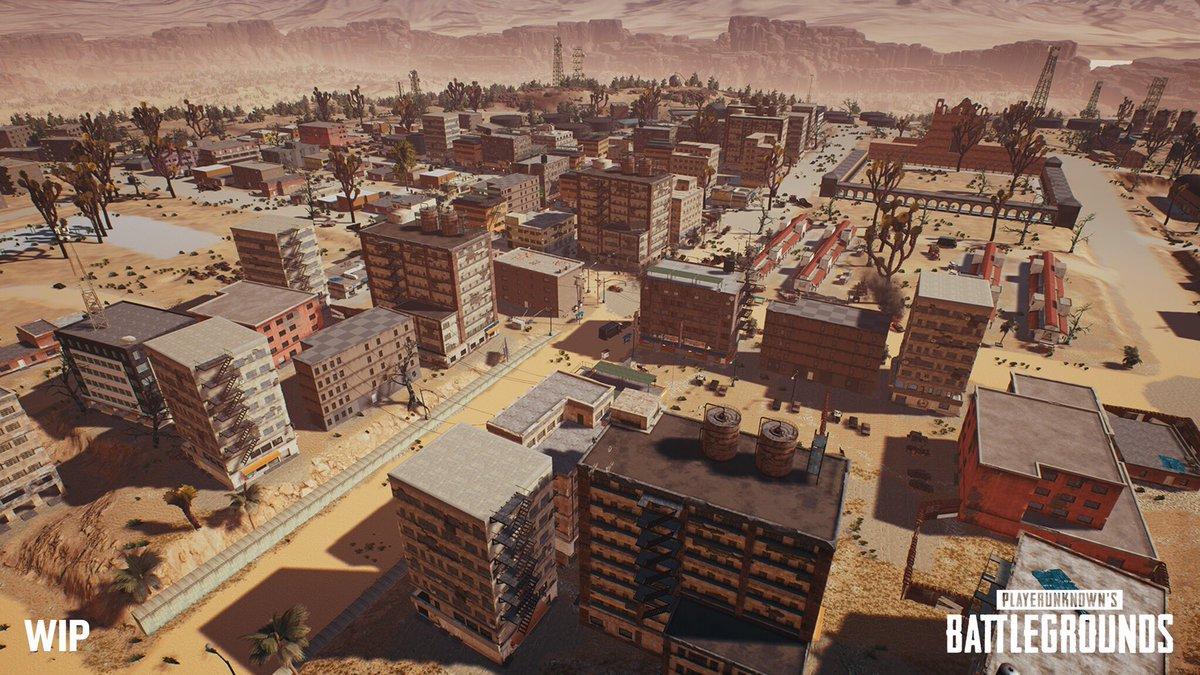 Imagen del nuevo mapa desértico de PlayerUnknown's Battlegrounds