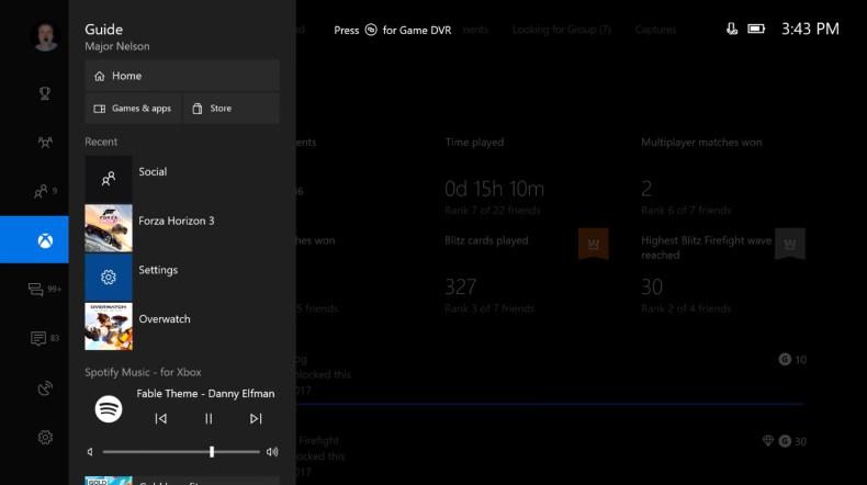 Aplicación de Spotify Music en Xbox One