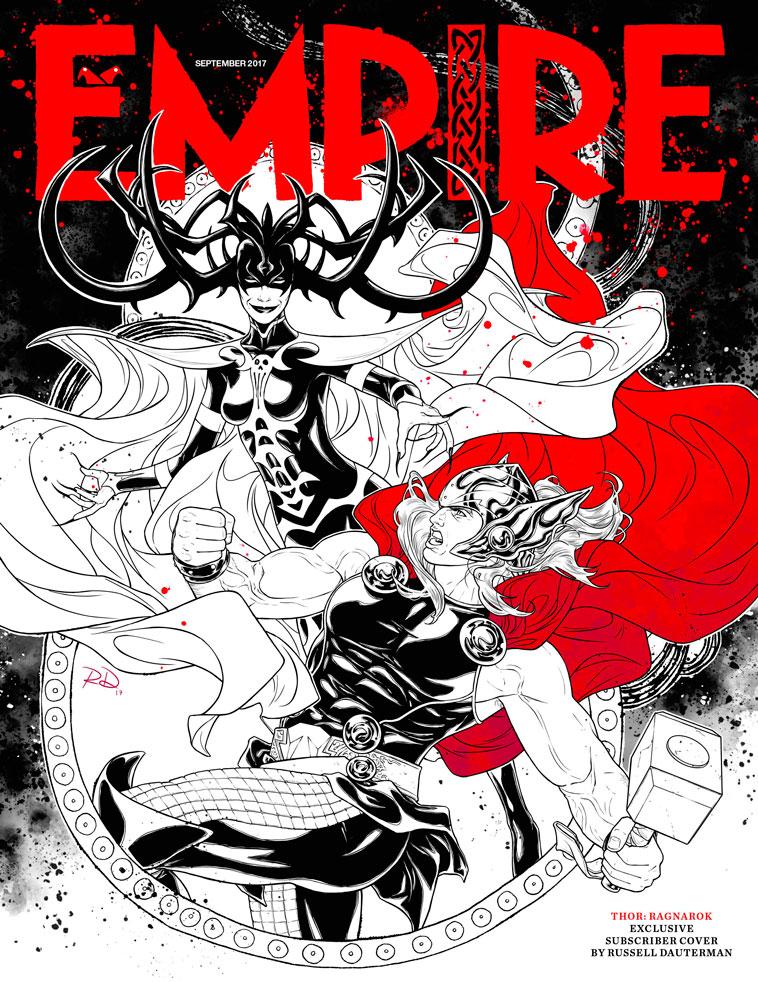 Thor: Ragnarok ilustración en la portada de la revista Empire