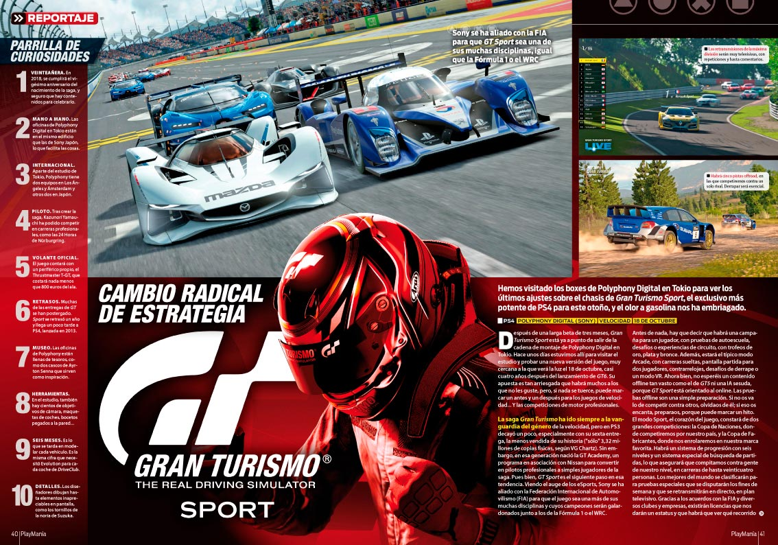 Todo sobre Gran Turismo Sport en Playmanía 226