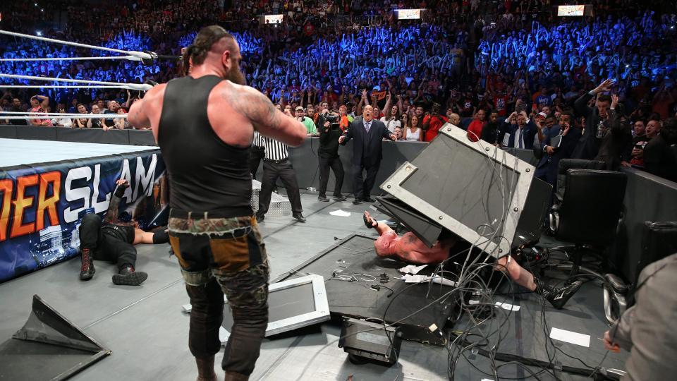 WWE SummerSlam 2017 - Campeonato Universal de la WWE - Brock Lesnar vs. Braun Strowman vs. Roman Reigns vs. Samoa Joe