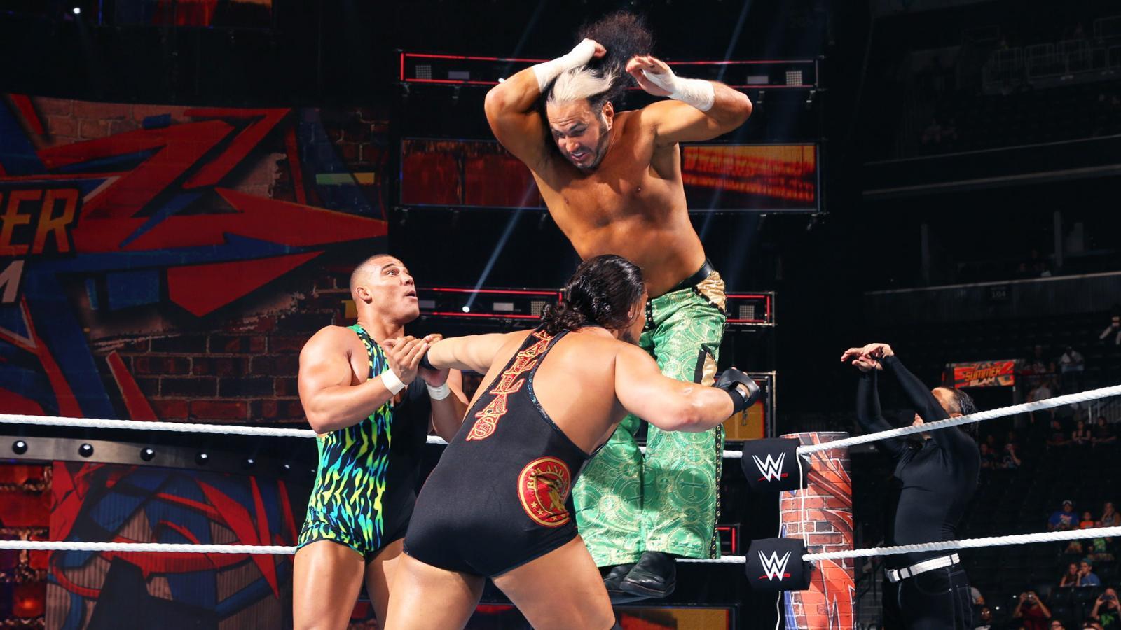 WWE SummerSlam 2017 - The Miz y The Miztourage vs. Hardy Boyz y Jason Jordan