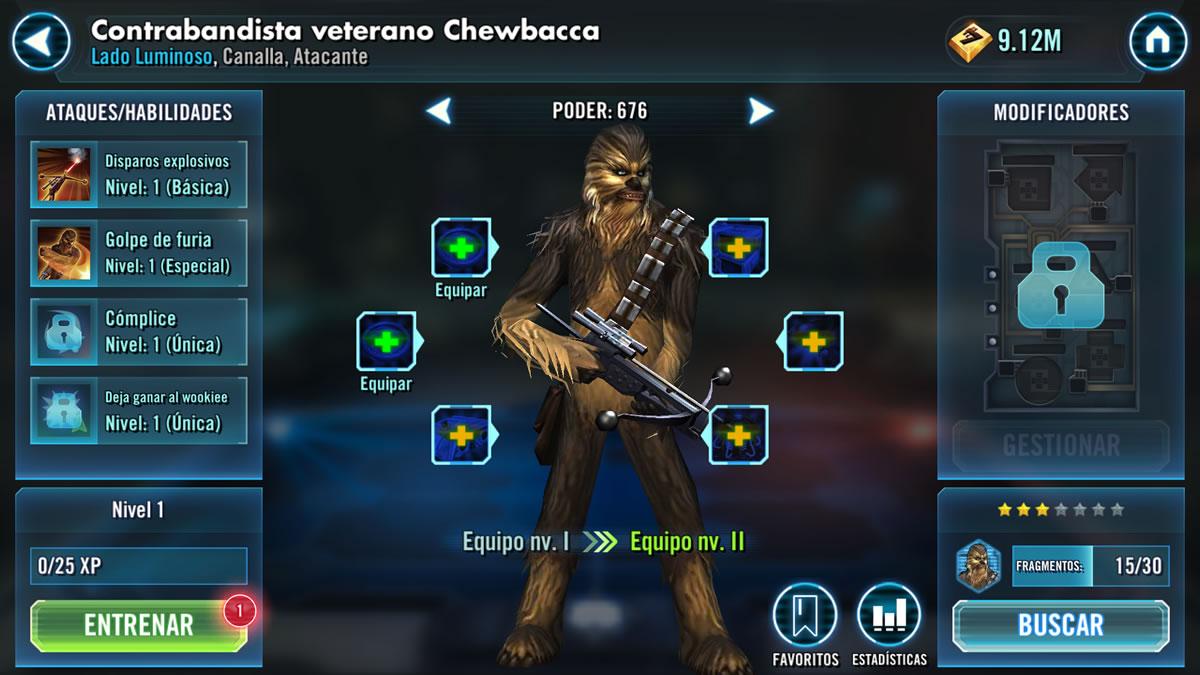 Contrabandista veterano Chewbacca