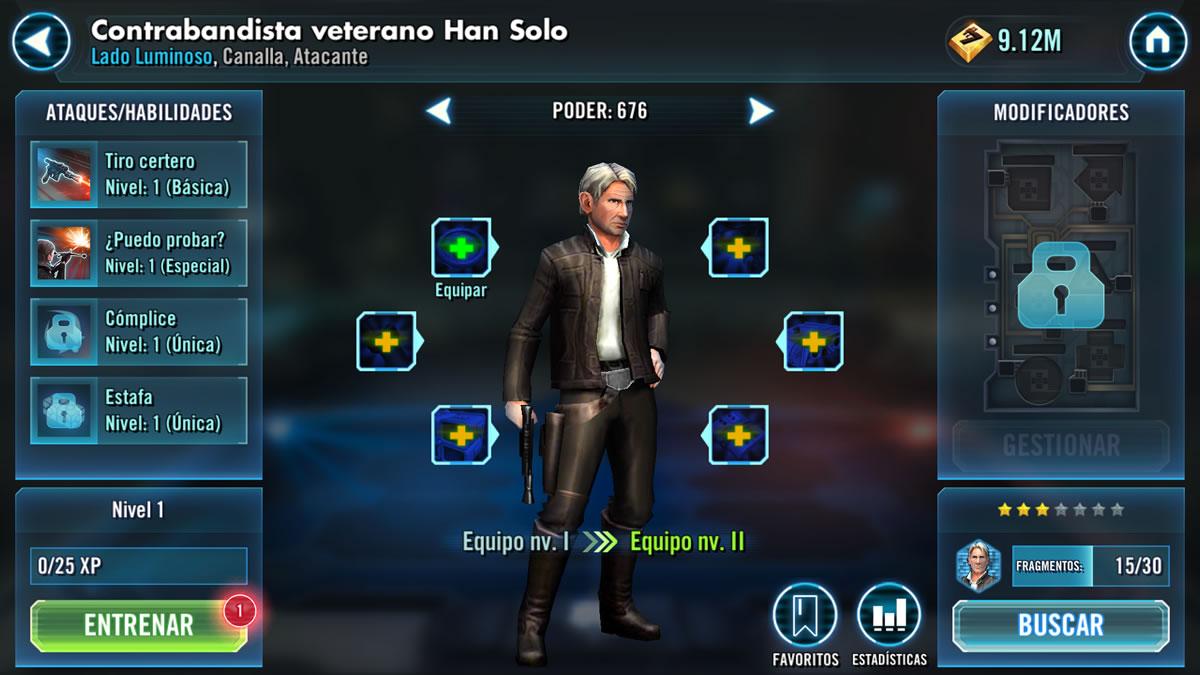 Contrabandista veterano Han Solo