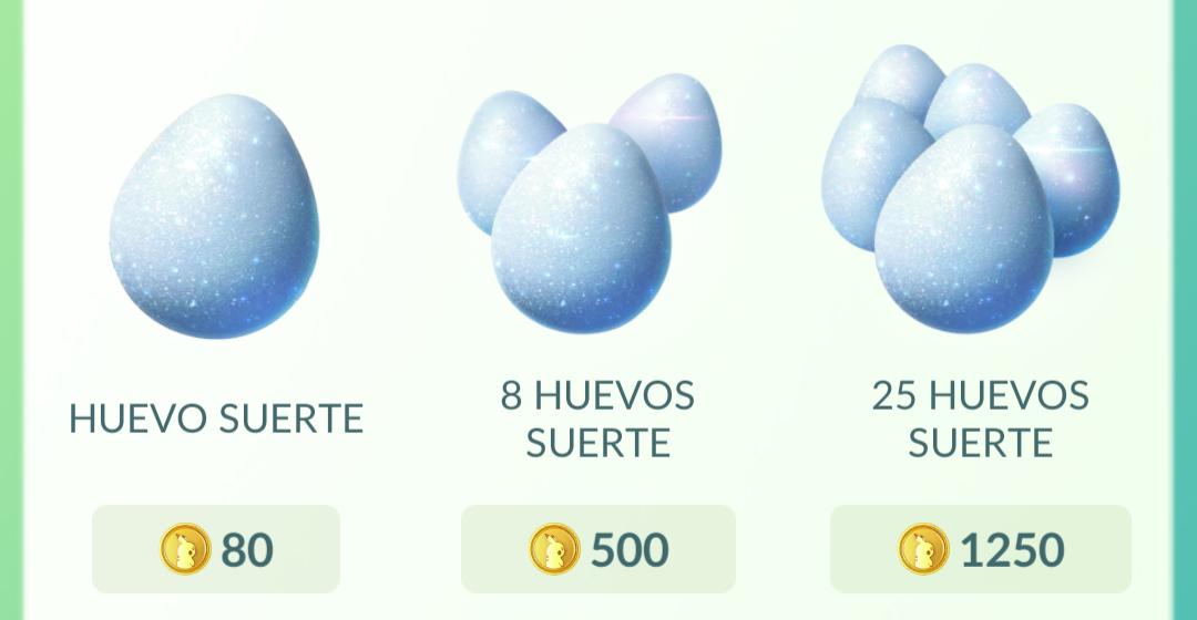 Huevos de la suerte Pokémon GO