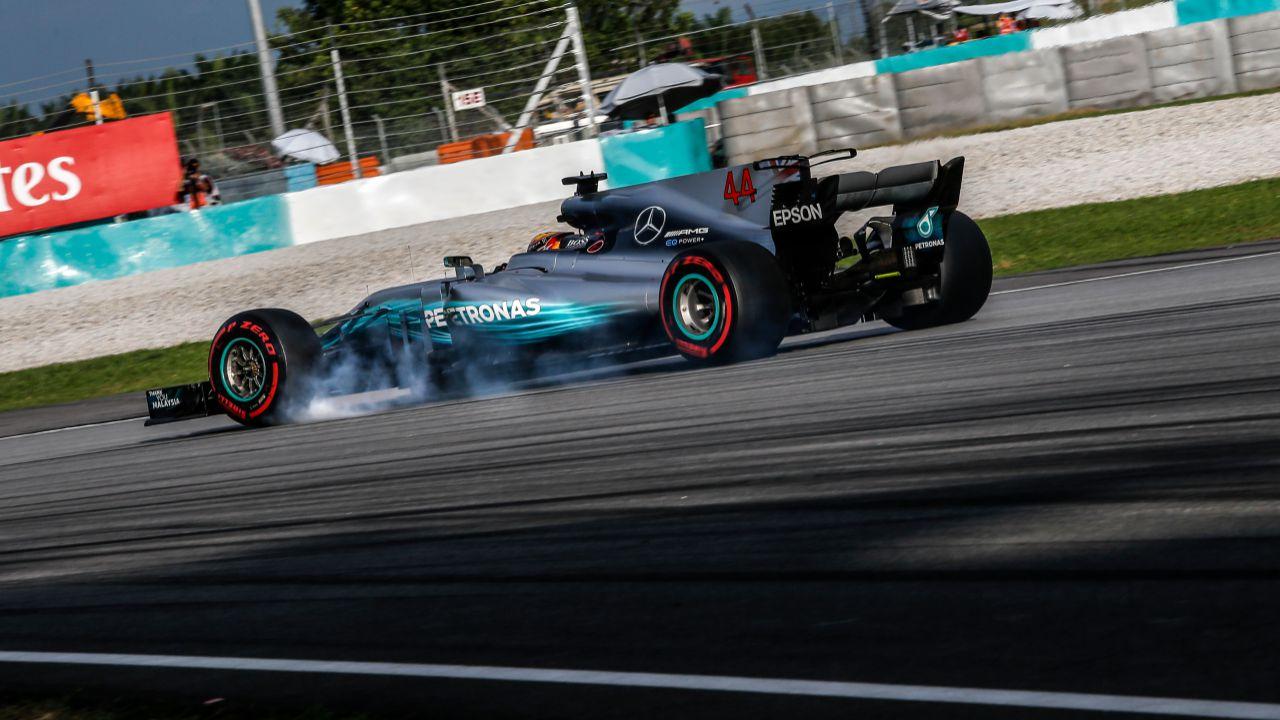 Lewis Hamilton en el GP de Malasia