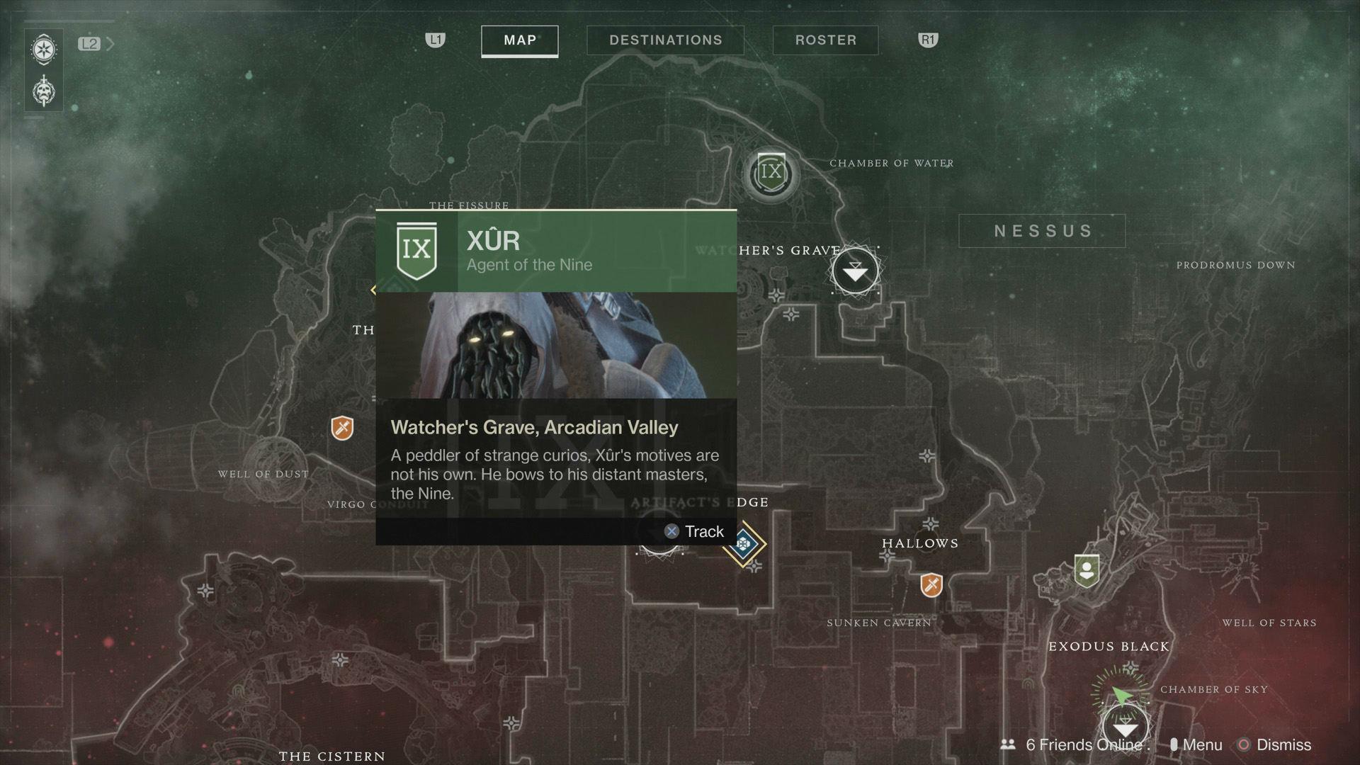 localización Xur Destiny 2