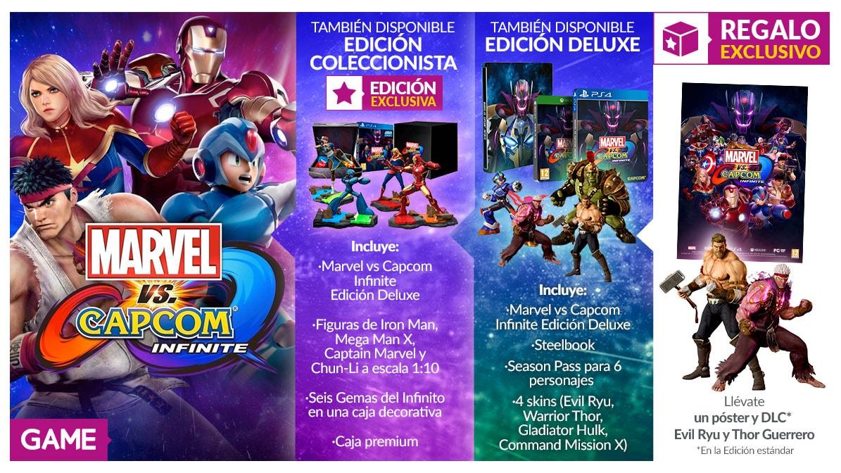 Marvel Vs Capcom Infinite ediciones GAME