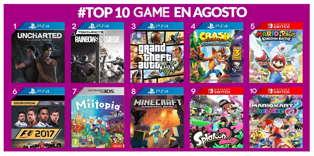 Los más vendidos en GAME