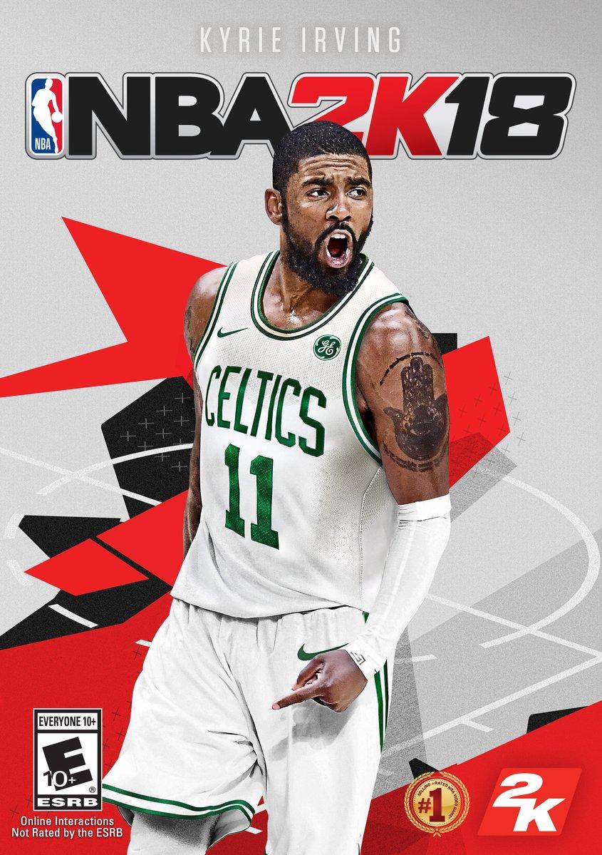 Nueva portada de NBA 2K18 con Kyrie Irving con la camiseta de los Boston Celtics