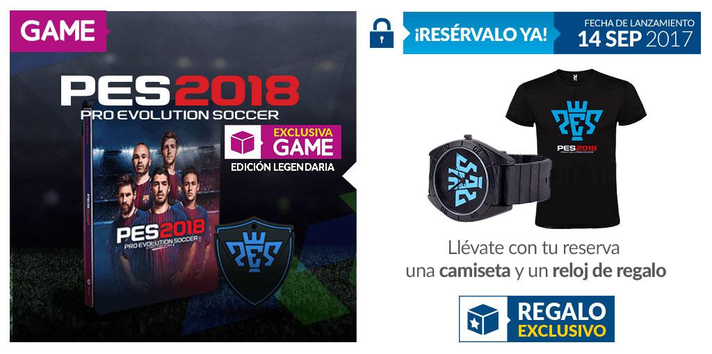 PES 2018 con regalos de reserva en GAME
