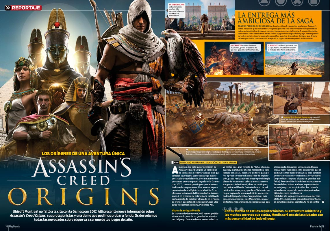 Todo sobre Assassin Creed Origins en Playmania 227