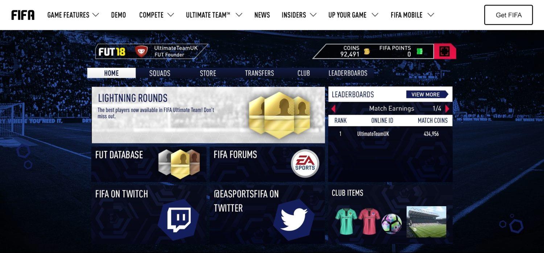 WebApp FIFA 18