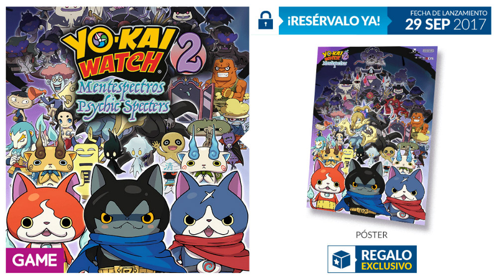 Yo-Kai Watch 2 Mentespectros - Regalo de reserva en GAME