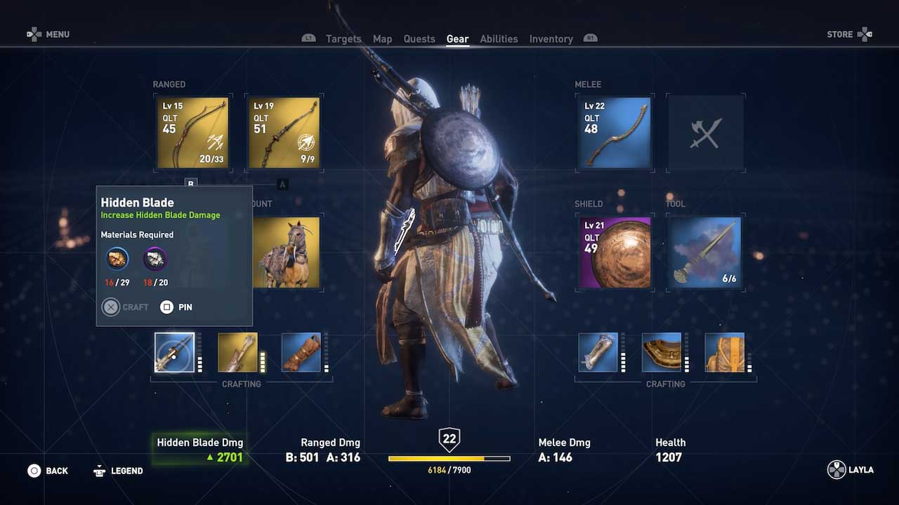 Assassins Creed Origins Guía de Armas