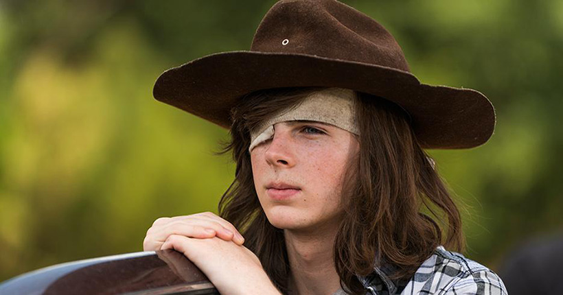 Carl en The Walking Dead